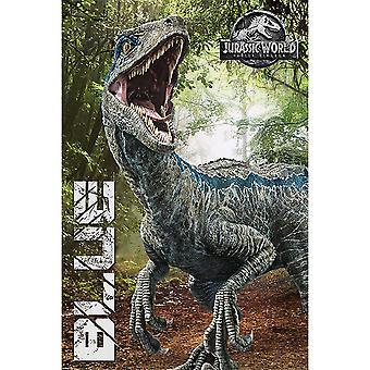 Jurassic World Fallen Kingdom Blue Poster