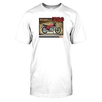 Benelli 750 sei-Classic Bike Mens camiseta