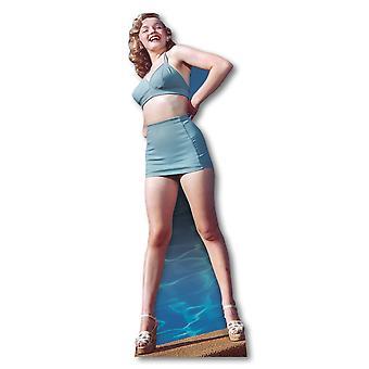 Marilyn Monroe wearing Blue Bikini - Lifesize Cardboard Cutout / Standee
