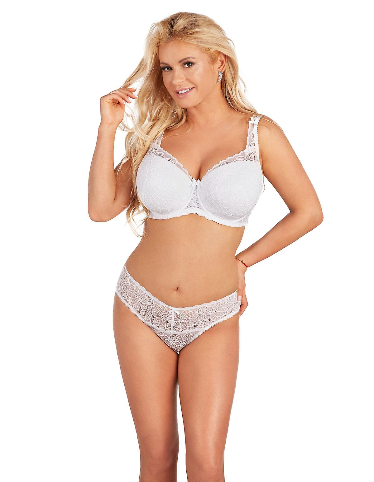 Nessa Women's Abbi White Padded Underwired Full Cup Bra laLE8W