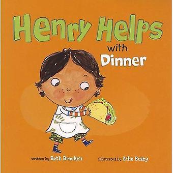 Henry hjælper med middag