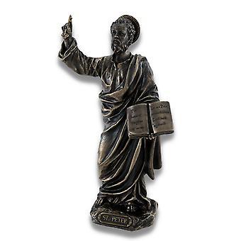 Sculpted Saint Peter Bronzed Statue