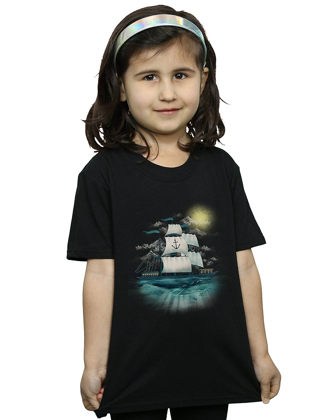 Dan Dingeroz Girls Nautical Scene T-Shirt