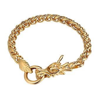 U7 bracelet of a Chinese dragon-gold