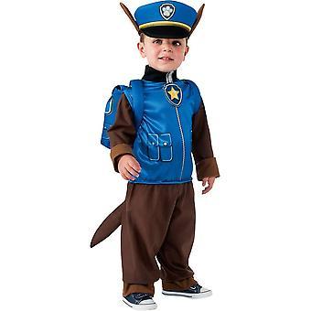 Chase clássico traje de patrulha de pata para crianças