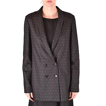 Alysi Ezbc134005 Women's Black Viscose Outerwear Jacket