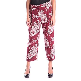 Prada Ezbc0210222 Women's Burgundy Silk Pants