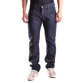 Daniele Alessandrini Ezbc107097 Men's Blue Cotton Jeans