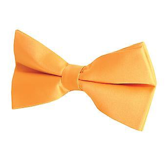 Dobell Mens Orange Bow Tie (Pre-Tied & Self-Tie)