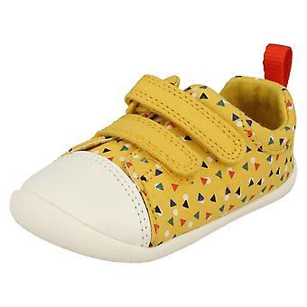 Dla dzieci chłopcy dziewczyny Clarks wstępnie spaceru buty Roamer Craft