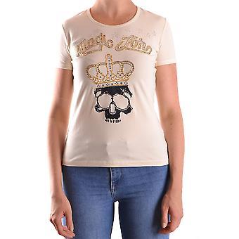 John Galliano Ezbc164015 Women's Beige Cotton T-shirt