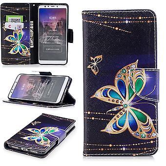 Per Samsung Galaxy A40 5.9 pollici ecopelle borsa portafoglio motivo 32 protezione manica Custodia cover custodia nuovo