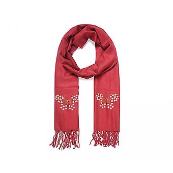 Intrigue Womens/Ladies Embroidered Butterfly Fringed Scarf