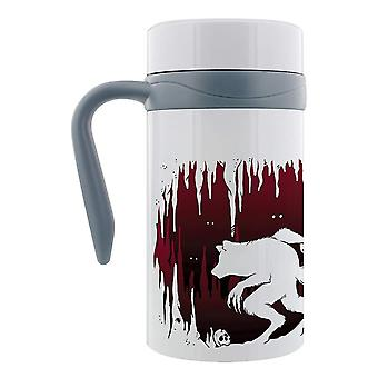 Grindstore Lone Wolf Thermal Travel Mug With Handle