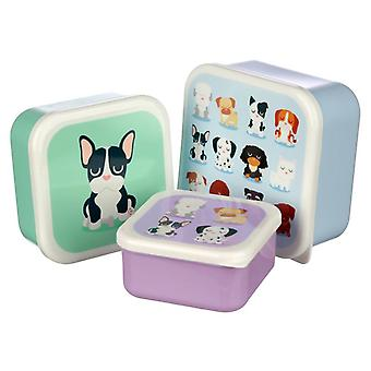 Puckator Set of 3 Lunch Boxes, Dog Squad