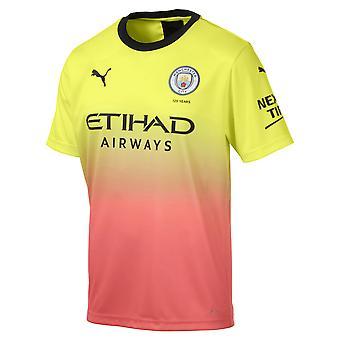Puma Manchester City 2019/20 Miesten lyhythihainen kolmas jalka pallo paita keltainen