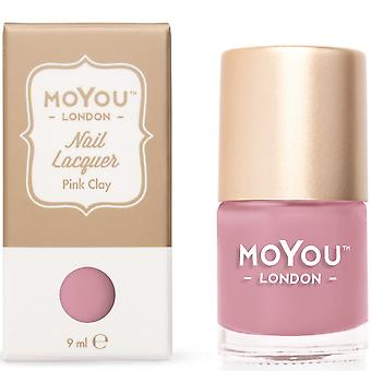 MoYou London Stamping Nail Lacquer - Pink Clay 9ml (MN042)