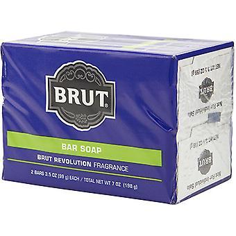 Faberge Brut Revolution Bar Soap 2x99g/3.5oz