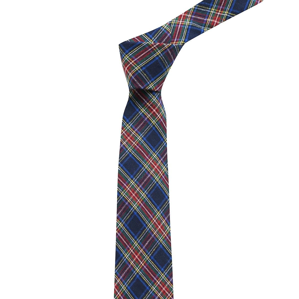Traditional Navy Blue Tartan Tie, Check, Plaid