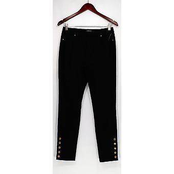 Susan Graver leggingsit Stretch Satiini pull-on leggingsit musta A300545