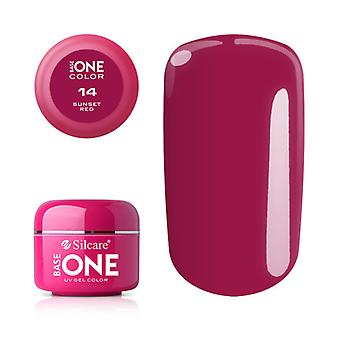 Base one-Color-Sunset red 5g UV Gel