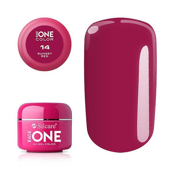 Base one - Color - Sunset red 5g UV-gel