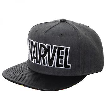 Marvel Logo Carbon Fiber Adjustable Grey Snapback