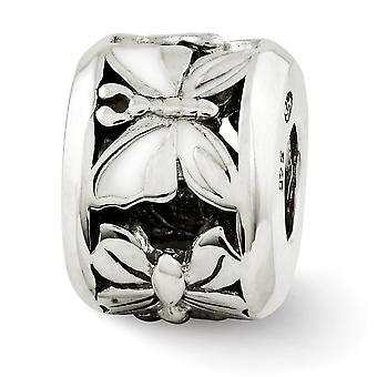 925 reflejos de plata esterlina blanco esmaltado mariposa ángel alas abalorios encanto colgante collar regalos de joyería para las mujeres