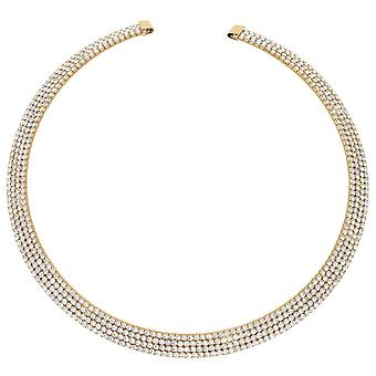 Eternal Collection St Tropez Diamante Gold Tone Statement Collier Collier