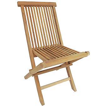 Charles Bentley par de madera maciza teak al aire libre plegable jardín patio sillas