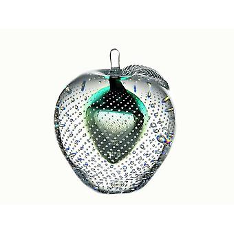 Bergdalshyttan-Art Glass-apple Big Green Design Magnus Carlsson