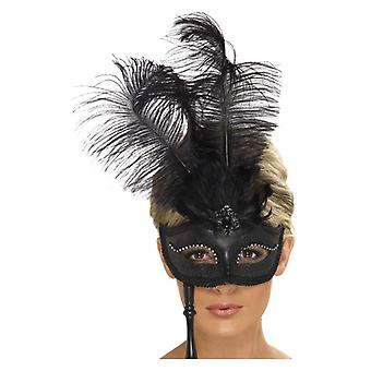 Womens barroco fantasia Eyemask Fancy Dress acessório