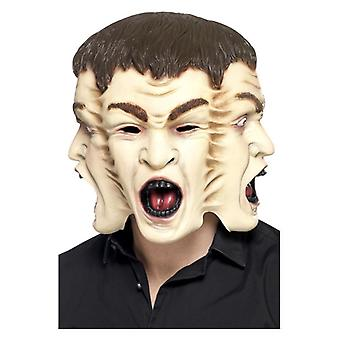 Mens 3 Face Mask  Fancy Dress Accessory