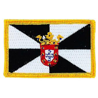 Patch Ecusson Brode Flag Ceuta Spain Spanish Thermocollant Insigne Blason