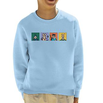 Krazy Kat Four Square Characters Kid's Sweatshirt