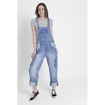 Daisy Womens denim salopette-verschoten