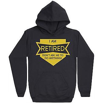 Jag är pensionerad-mens hoodie