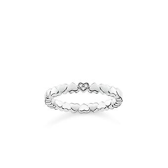 Thomas Sabo Sterling Silver Heart Ring With Diamond D_TR0013-725-14
