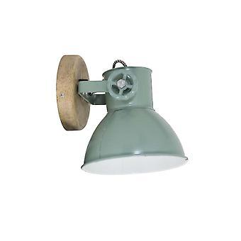 Light & Living Wall Lamp 20x18x19 Cm ELAY Wood Natural+industrial Green