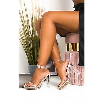 IKRUSH Womens Zarah Perspex Block Heels