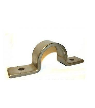 Pipe Saddle Clamp - Guide - 22 Mm Id, 20 Mm Ih, 25 X 3 Mm T304 Stainless Steel (a2)