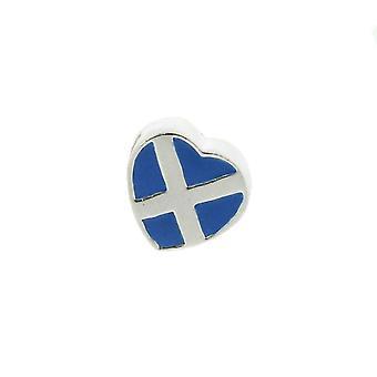 Encanto escocês da conta do coração de Saltire