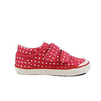Startrite Bounce Pink Canvas Girls Rip Tape Casual Trainer Shoes