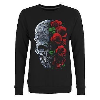 Requiem Collective Womens/Ladies Immortal Bloom Black Sweatshirt