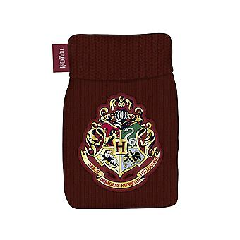 Harry Potter hot water bottle with Hogwarts cover red, cover in knitwear, 100% polyacrylic, capacity approx. 500ml..