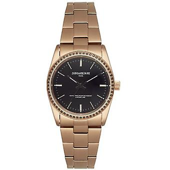 Zadig & Voltaire ZVF407 watch - Watch steel gold rose dial black female