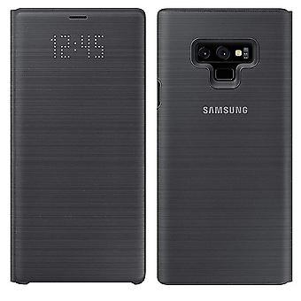 Genuine Samsung Galaxy Note 9 LED Flip Wallet Case Cover - Black