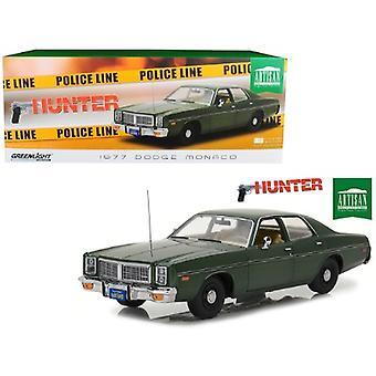 1977 Dodge Monaco Green Hunter (1984-1991) Tv Series 1/18 Diecast Model Car By Greenlight