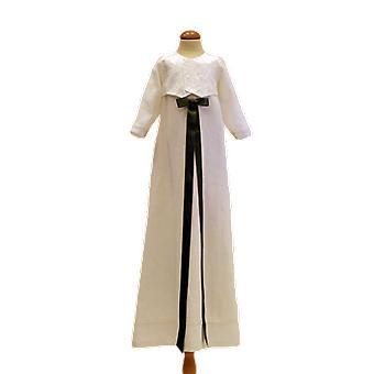 Dopklänning Grace Of Sweden - Blank Väst Och Mörk Olivgrön Rosett.