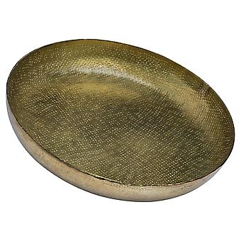 Hill Interiors Antique Style Hammered Metallic Brass Dish